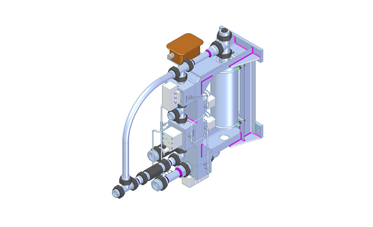 3d drawling of hydraulic mechanism