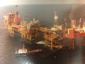 oil rig birds eye view