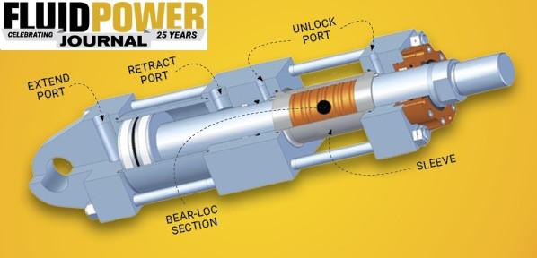 fluid power journal bear-lock