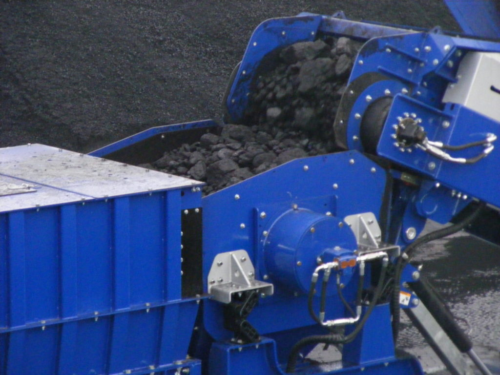 crushing coal at a mine