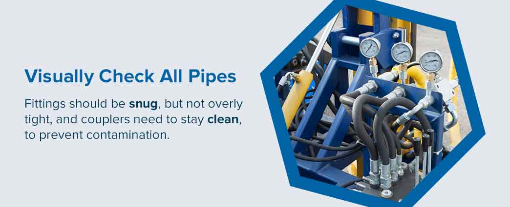 check-all-pipes-connections-hydraulic-hoses