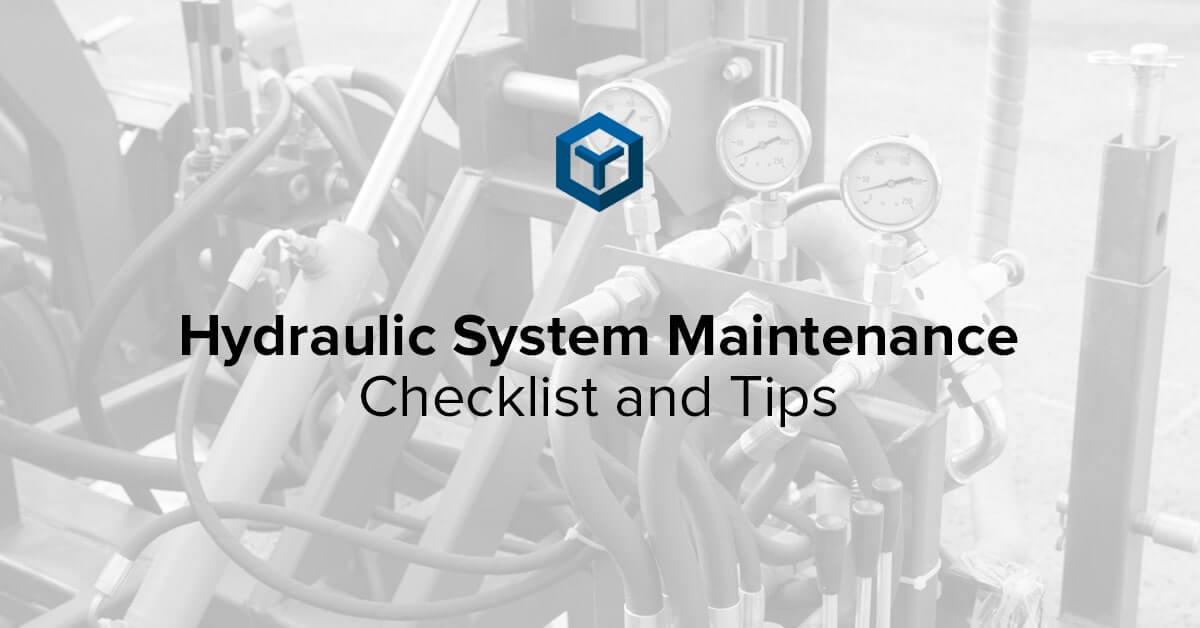 hydraulic-system-maintenance-checklist