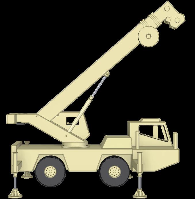 Crane with hydraulic lock