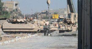 military crane in iraq