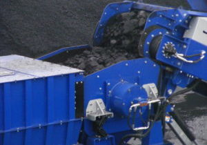 crushing coal at a mine